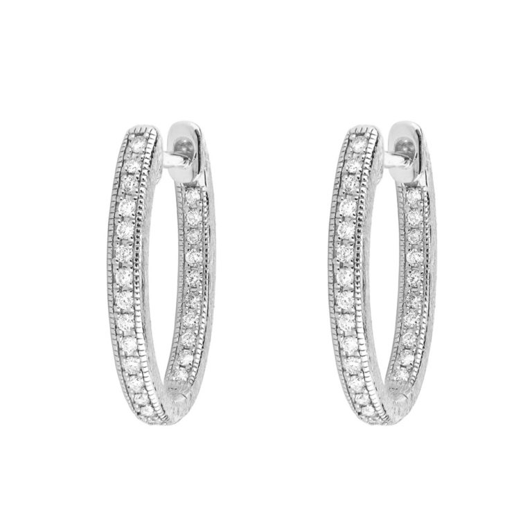 Image 2 for Delicate Small Oval Hoop Earrings
