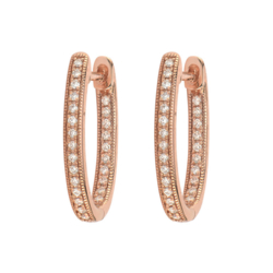 Closeup photo of Delicate Small Oval Hoop Earrings