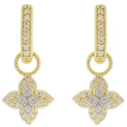 Closeup photo of MOROCCAN SMALL PAVE FLOWER EARRING CHARMS