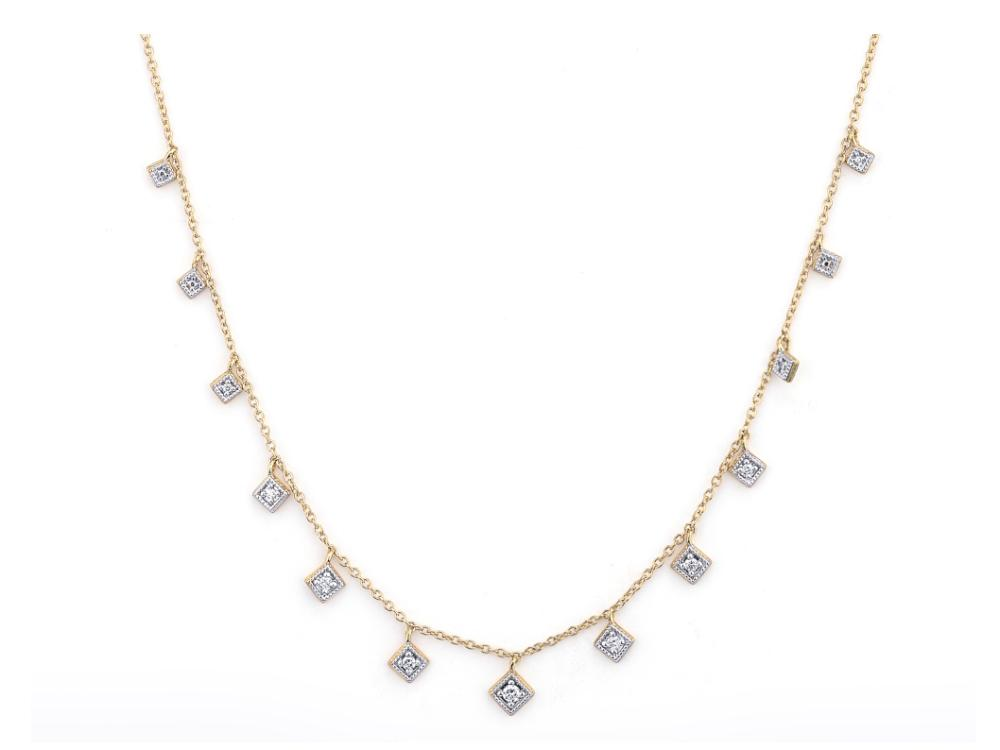 LISSE DANCING DIAMONDS KITE NECKLACE 18 INCHES