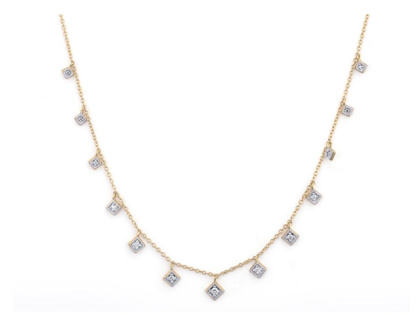 Closeup photo of LISSE DANCING DIAMONDS KITE NECKLACE 18 INCHES
