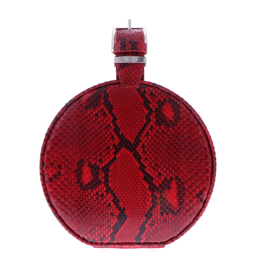 Glazed Python Round Chain Bag