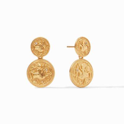 Closeup photo of Coin Midi Earring