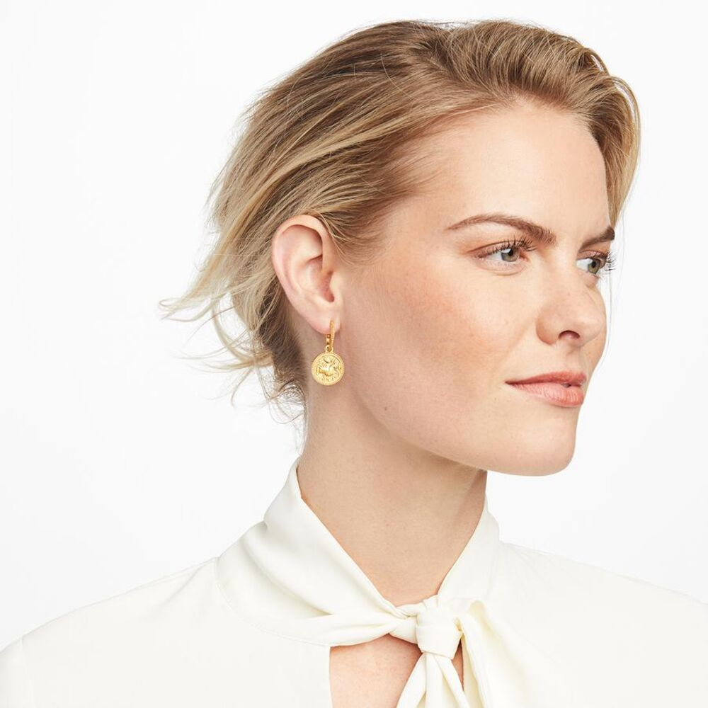 Image 2 for Coin Hoop & Charm Earring