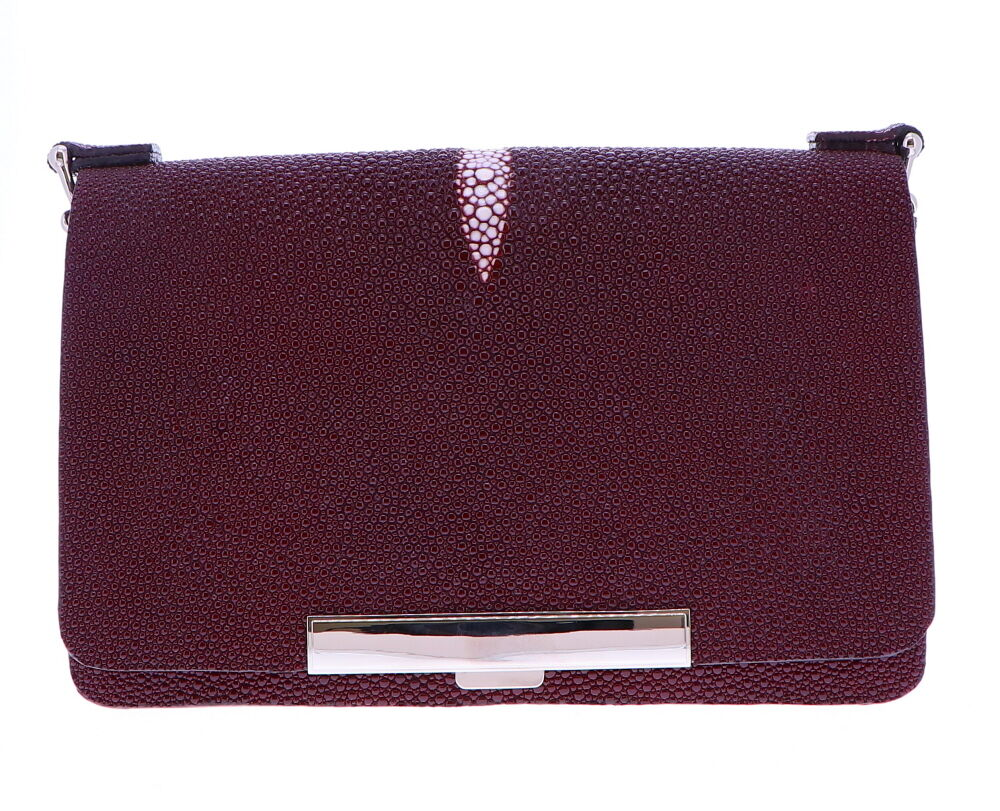 Burgundy Stingray Chain bag