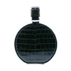 Closeup photo of Hat Box Chain Bag - Forest Green Alligator