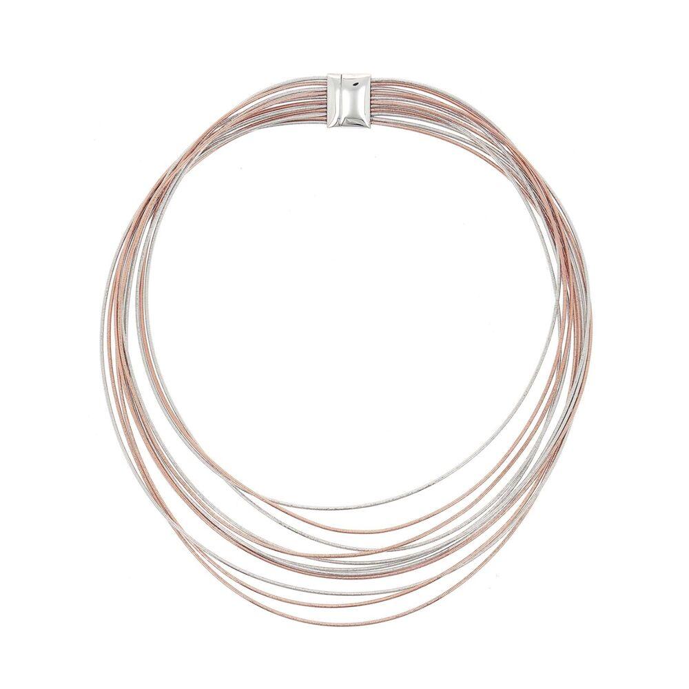 Image 2 for Bi Color Small Bib Necklace
