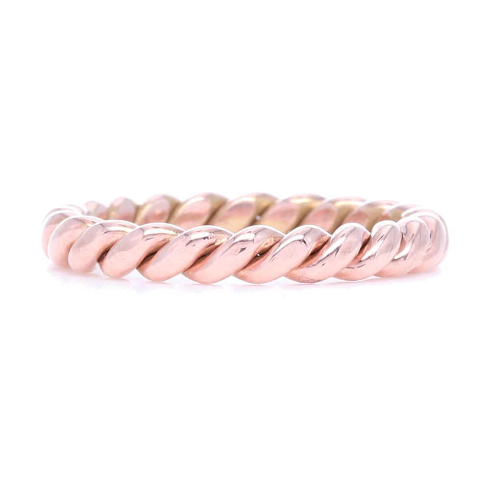 Image 2 for 14k Gold Handmade Twist Ring