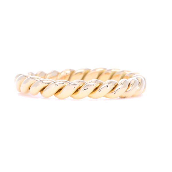 Closeup photo of 14k Gold Handmade Twist Ring