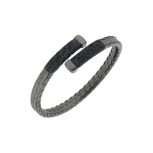 Crossover Braided Polvere Cuff Ruthenium Dark Gray Polvere