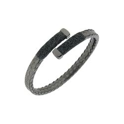 Closeup photo of Crossover Braided Polvere Cuff Ruthenium Dark Gray Polvere