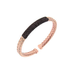 Closeup photo of Braided Polvere Cuff Rose Gold Antelope Polvere