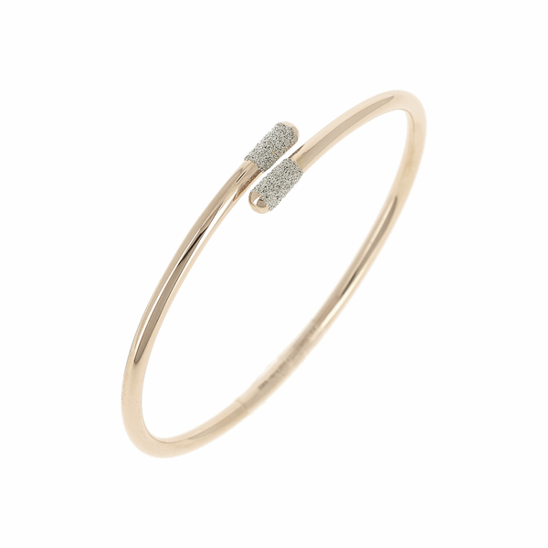 Closeup photo of Crossover Diamanti Bangle Bracelet 18k Rose Gold Champagne Diamond Dust