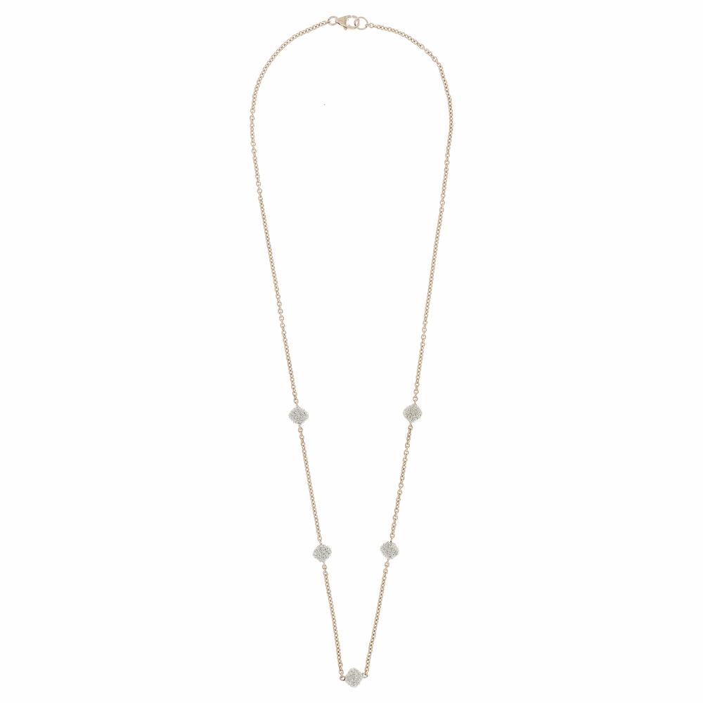 5-Station Diamond Diamanti Necklace 18k White Gold Storm Grey Diamond Dust