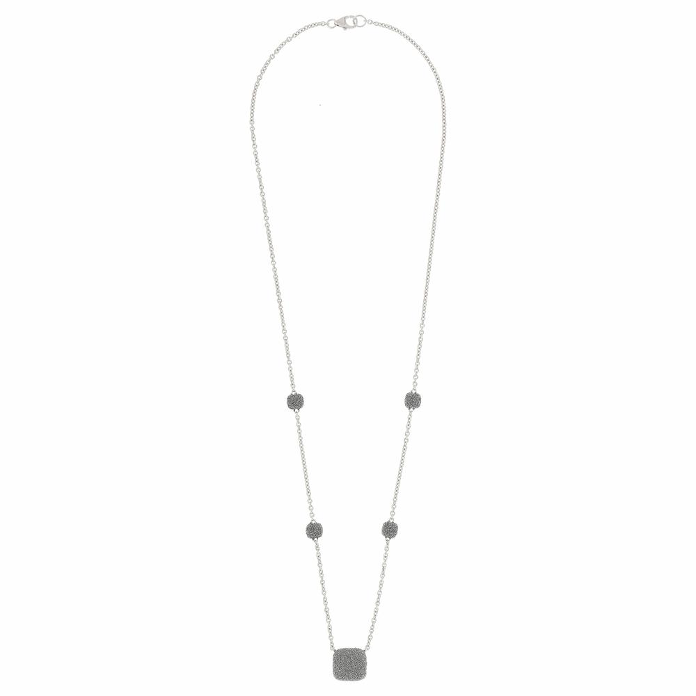 Square Diamanti Pendant Necklace