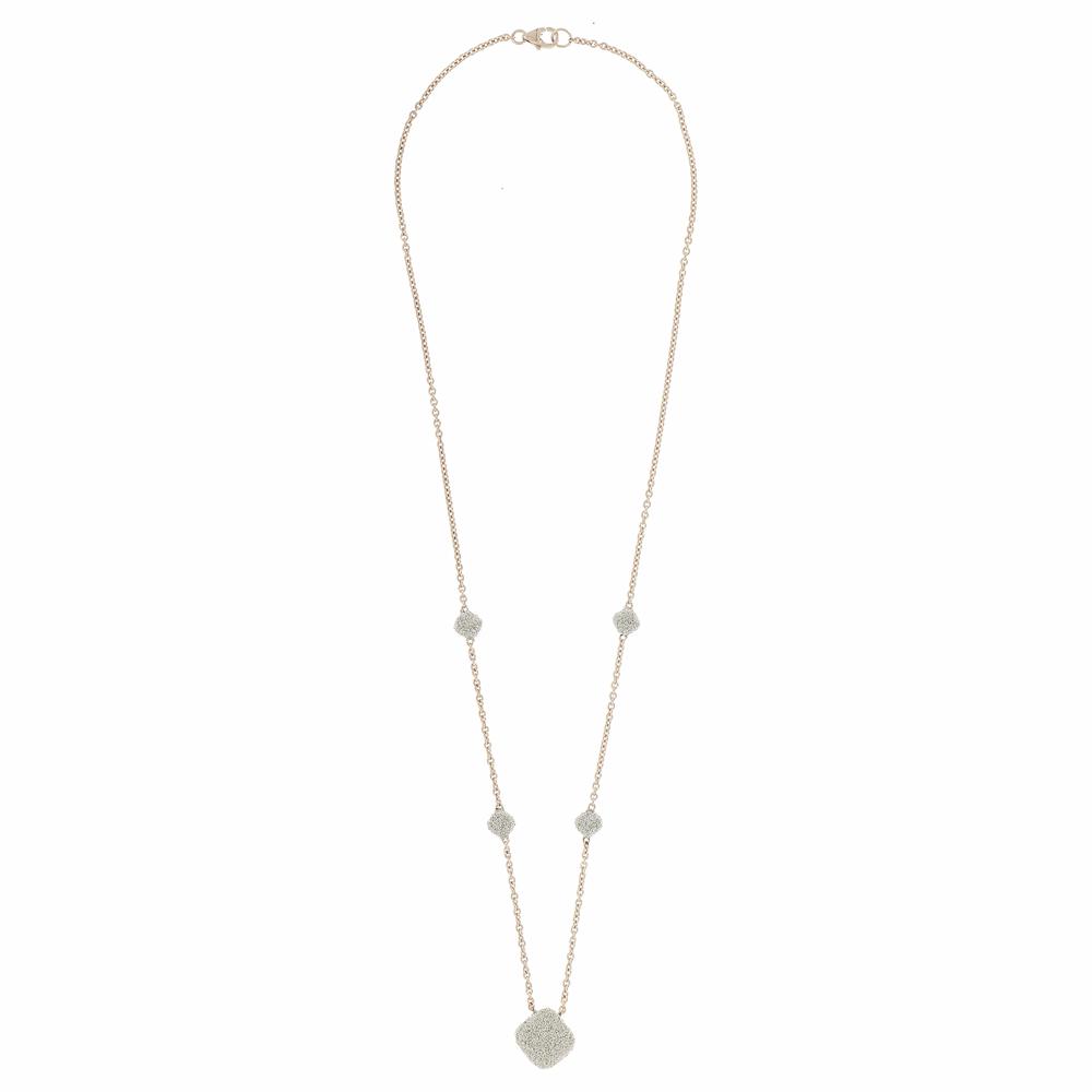 Turned Square Diamanti Necklace