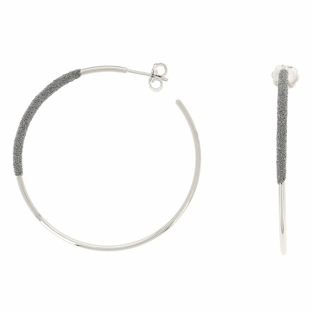 Thin Diamanti Large Hoop Earrings