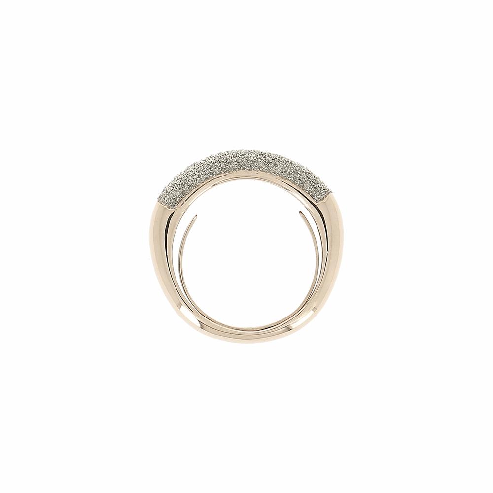 Thin Diamanti Ring 18k Rose Gold Champagne Diamond Dust