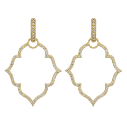 Closeup photo of  Michelle Flower Pave Earring Charm Frames