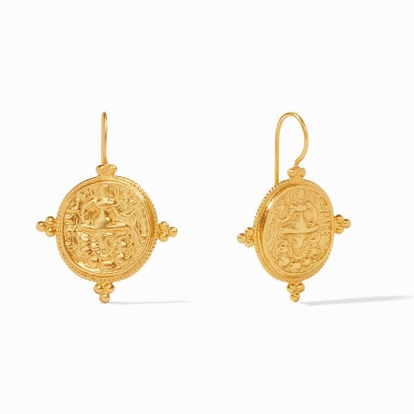 Closeup photo of Quatro Coin Earring Gold