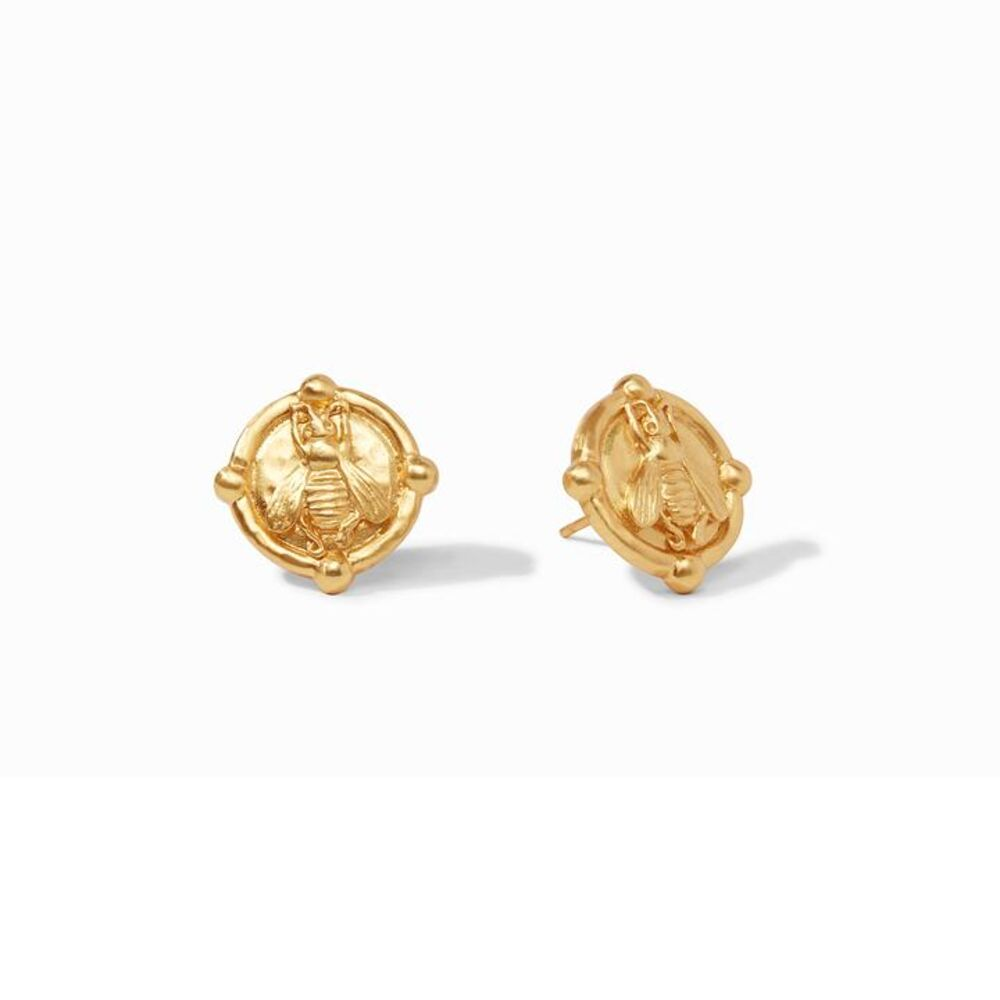 Bee Cameo Stud Gold