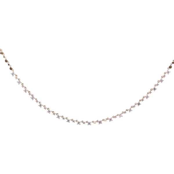 Closeup photo of Diamond Choker Layering Necklace 1.60tcw