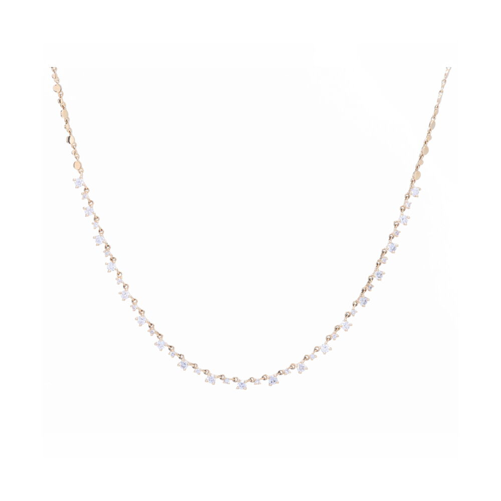 Diamond Choker Layering Necklace