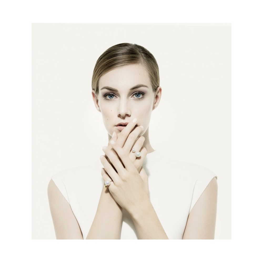 Image 2 for Double Pearl Ring with White South Sea Pearls