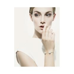 Closeup photo of Double White South Sea Pearl Cuff Bracelet