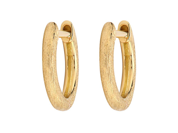 Closeup photo of  PLAIN DELICATE GOLD HOOPS