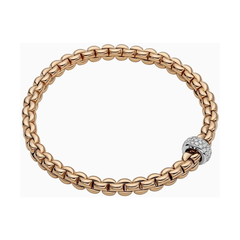 Flex'it Bracelet with Pave Diamond Rondel