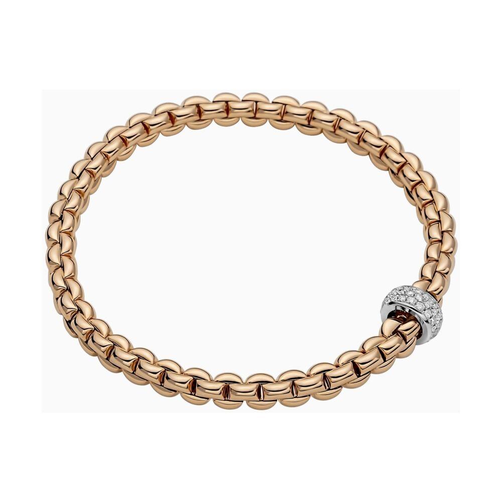 Flex'it Bracelet with Pave Diamond Rondel 721BPAVE