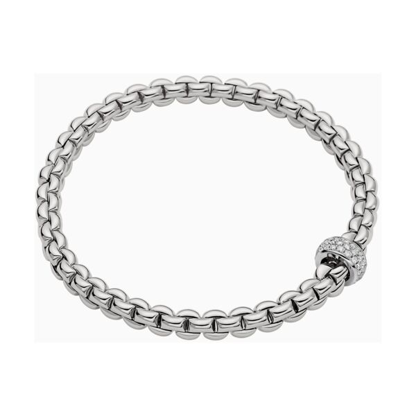 Closeup photo of Flex'it Bracelet with Pave Diamond Rondel 721BPAVE