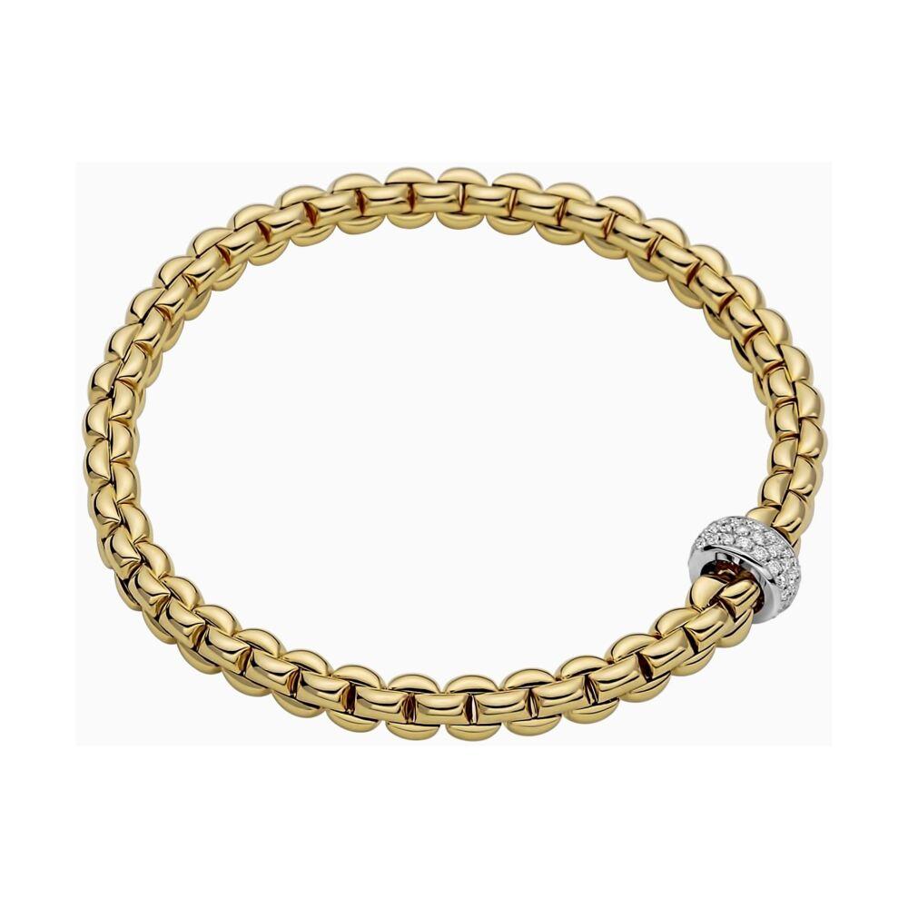 Image 2 for Flex'it Bracelet with Pave Diamond Rondel 721BPAVE