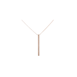 Closeup photo of Yellow Gold Vertical Bar Layering Necklace