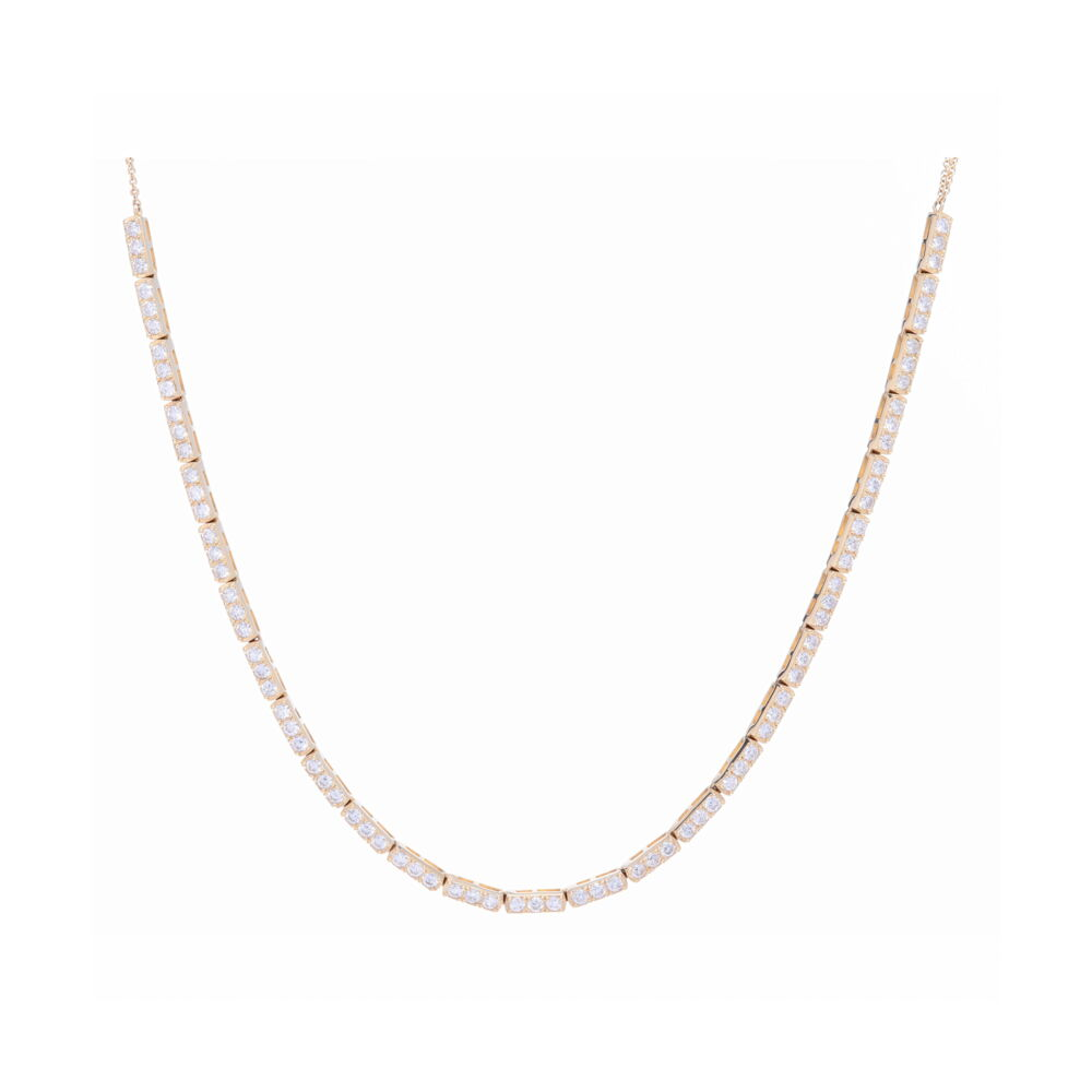 Large 3 Diamond Bar Choker